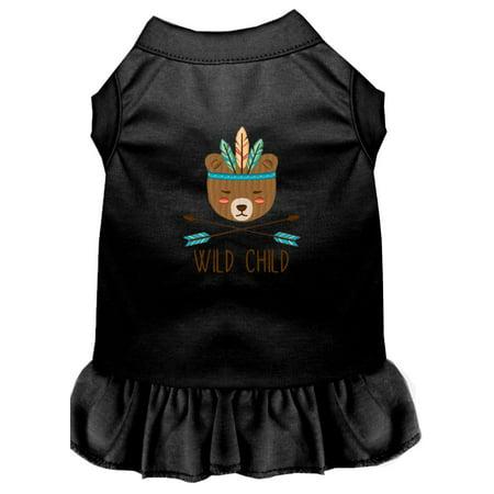 Wild Child Embroidered Dog Dress Black Xl (16)