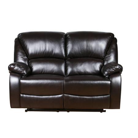 Super Harper Bright Designs Home Theater Recliner Pu Leather Reclining Loveseat Brown Spiritservingveterans Wood Chair Design Ideas Spiritservingveteransorg