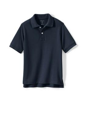 Lands' End Boys 4-20 School Uniform Short Sleeve Pique Mesh Polo Shirt