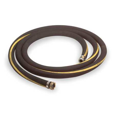 """GRAINGER APPROVED 3"""" ID x 20 ft Rubber Water Suction Hose BK, 3P634"""