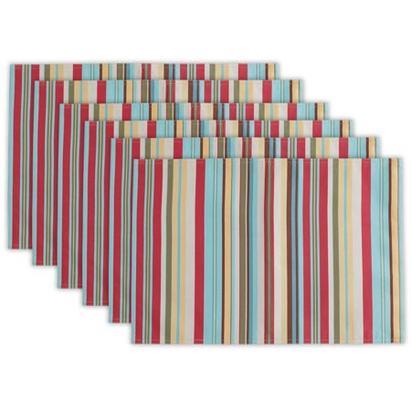 DII Summer Stripe Outdoor Placemat (Set of 6), 19