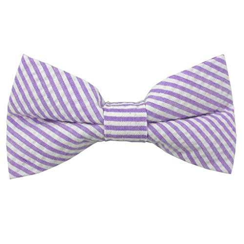 Mens Tie Yourself Lavender Seersucker Bow Ties