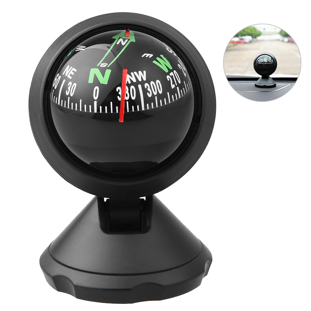 CARGOOL Mini Car Compass Auto Ball with Adhesive and Delicate Decoration, Perfect for Finding Direction, Universal for... by