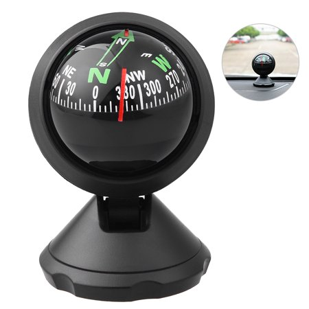 CARGOOL Mini Car Compass Auto Ball with Adhesive and Delicate Decoration, Perfect for Finding Direction, Universal for Most Cars, Black - Car Balls