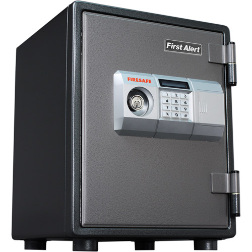 First Alert 0.8 cu. ft. Steel 1-Hour Fire and Anti-Theft Safe with Electronic Lock, 2054DF