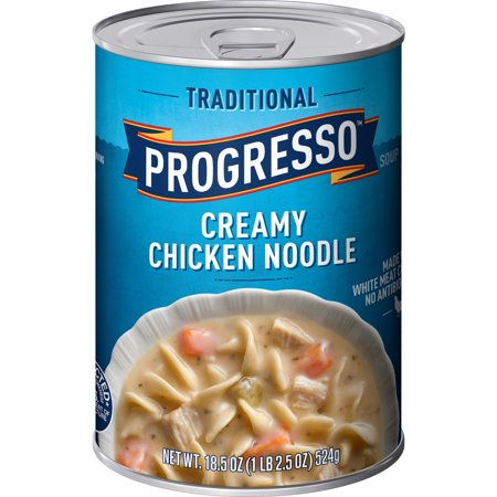 (4 Pack) Progresso Traditional Creamy Chicken Noodle Soup 18.5 oz Can