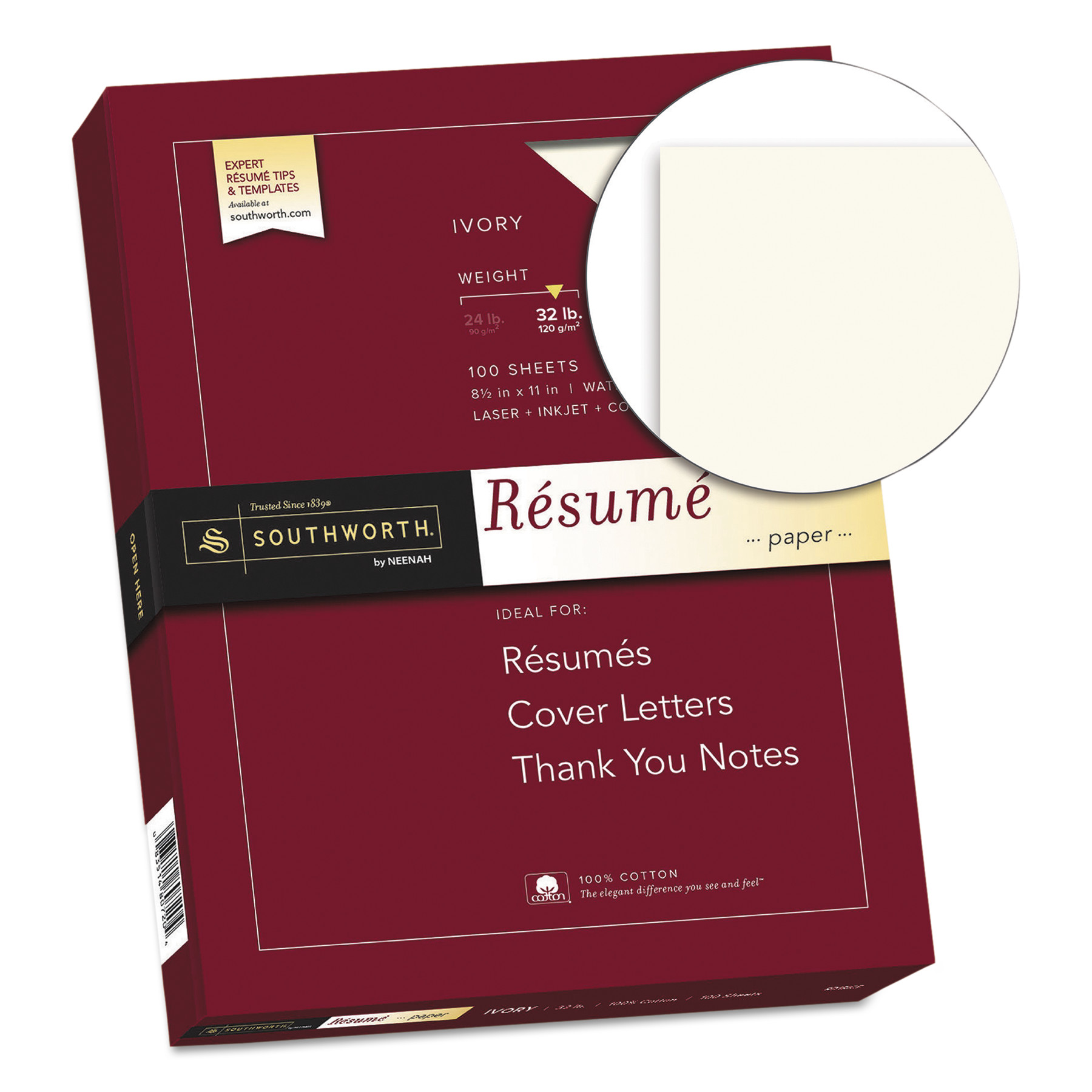 resume Southworth Resume Paper southworth 100 cotton resume paper 32lb 8 12 x 11 ivory wove sheets walmart com