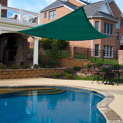King Canopy's Triangle 10' x 10' Sun Shade Sail, Green