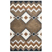 "Rizzy Home Multi Colored Runner Rug In Wool 2'6"" x 8'"