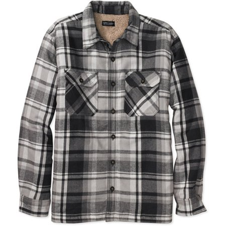 faded glory big men 39 s sherpa lined flannel shirt jacket