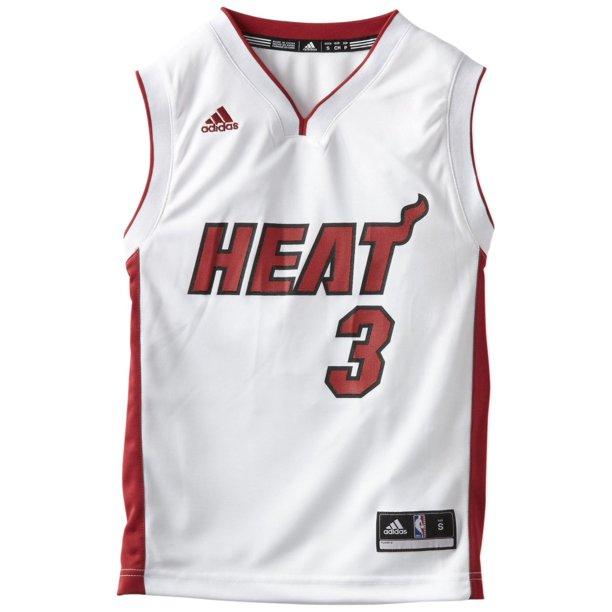Nba Dwyane Wade Heat 3 Kids Replica Home Jersey Walmart Com Walmart Com