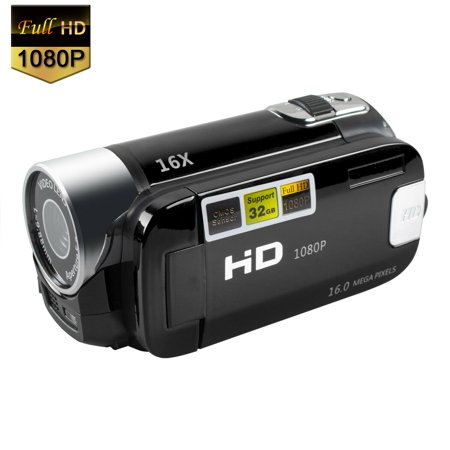 Camcorder Digital Video YouTube Vlogging Camera Recorder Full HD 1080P 2.7 Inch 270 Degree Rotation LCD 16X Digital Zoom Camcorder with A Batteries(Black) (Spy Camera Recorder Hd)
