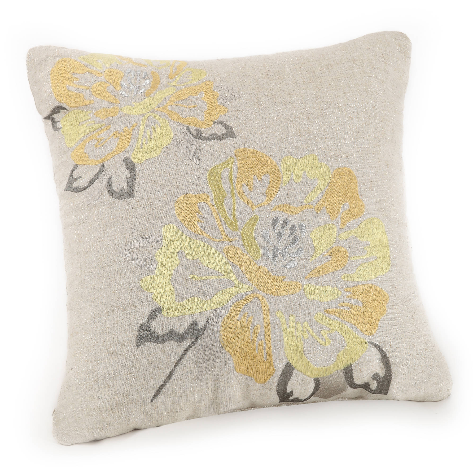 Better Homes & Gardens Yellow Blossom Square Decorative Pillow by Better Homes and Gardens
