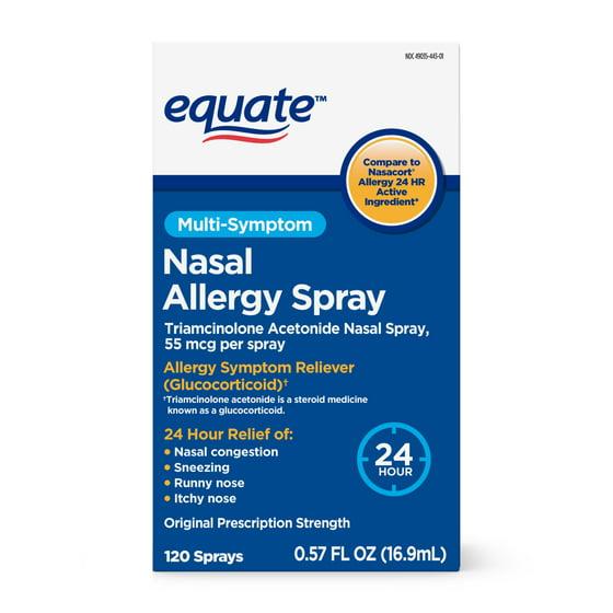 Equate Nasal Allergy Spray 120 Sprays 057 Fl Oz Walmart