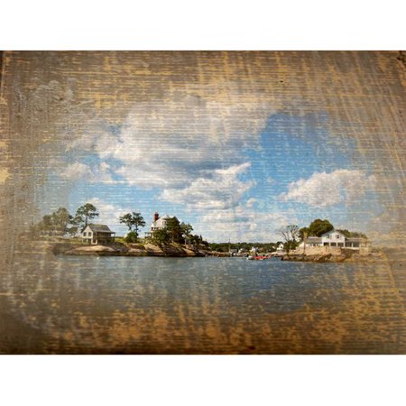 Graffitee Studios Connecticut Wooden Thimbles - Thimble Islands Graphic Art on Wrapped Canvas