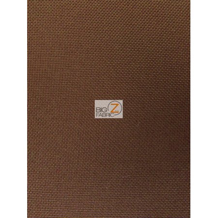 Solid Canvas Outdoor Waterproof PVC Backing Fabric / Brown / Sold By The Yard