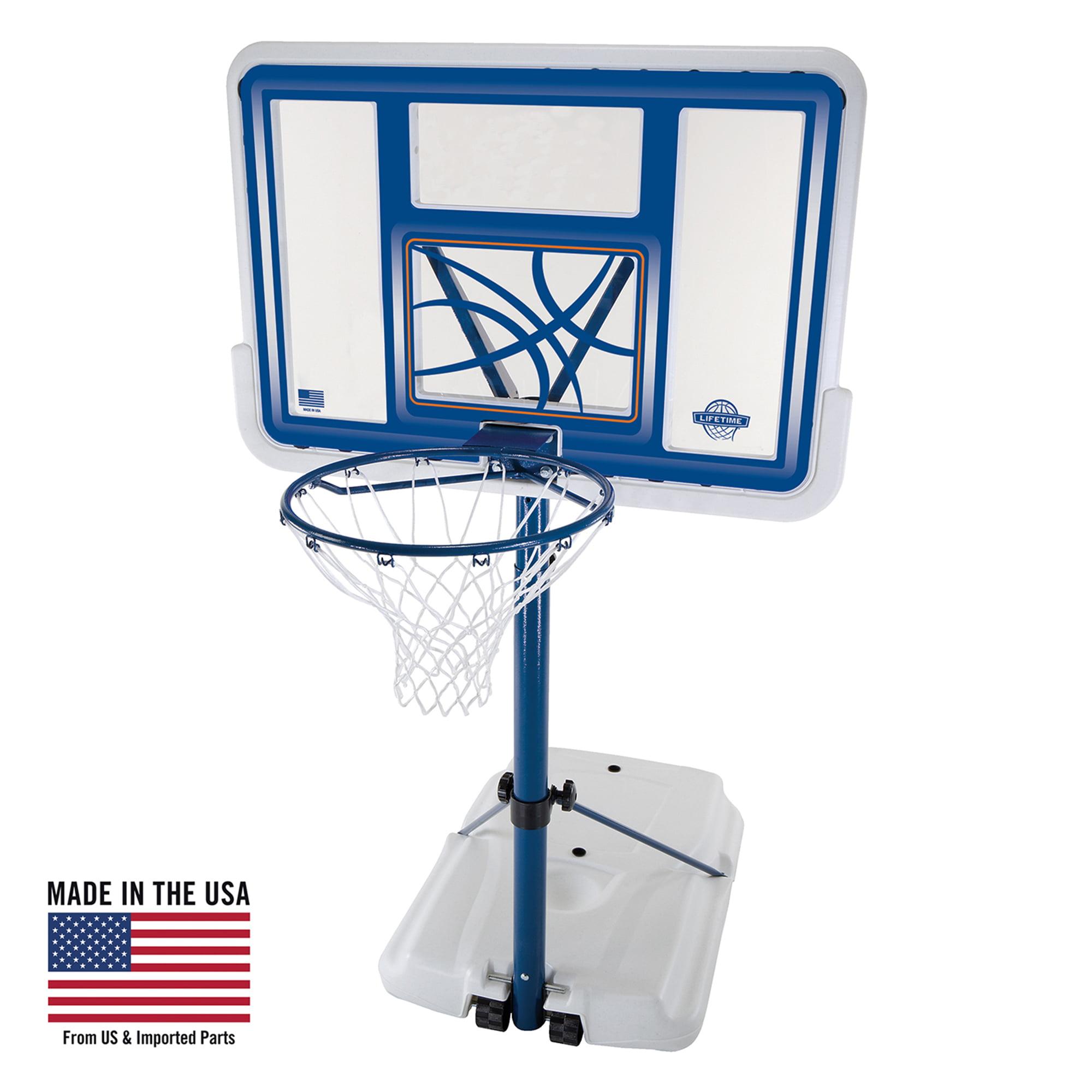"Lifetime 44"" Acrylic Pool Side Portable Height Adjustable Basketball System, 1306"