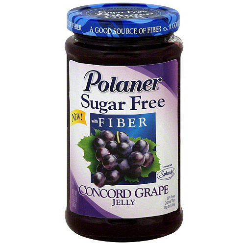 Polaner Sugar Free Concord Grape Jam With Fiber, 13.5 oz (Pack of 12)
