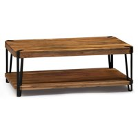 Ryegate Natural Live Edge Solid Wood with Metal Coffee Table, Natural