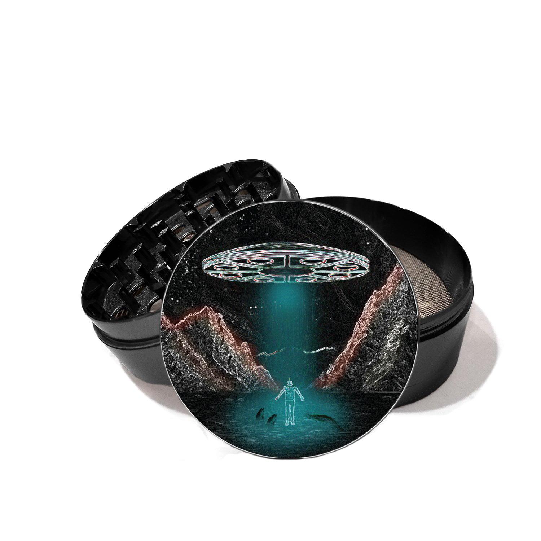 Fantasy UFO Plant Design - UV Printed Grinder