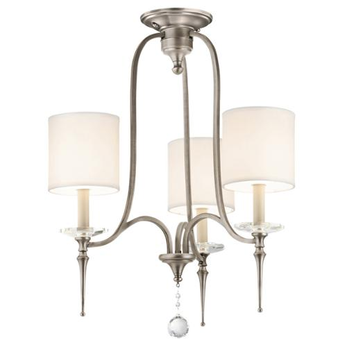 Aztec Lighting Transitional 3-light Antique Pewter Chandelier