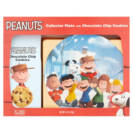 Peanuts Collector Plate with Chocolate Chip Cookies, 5.4 oz