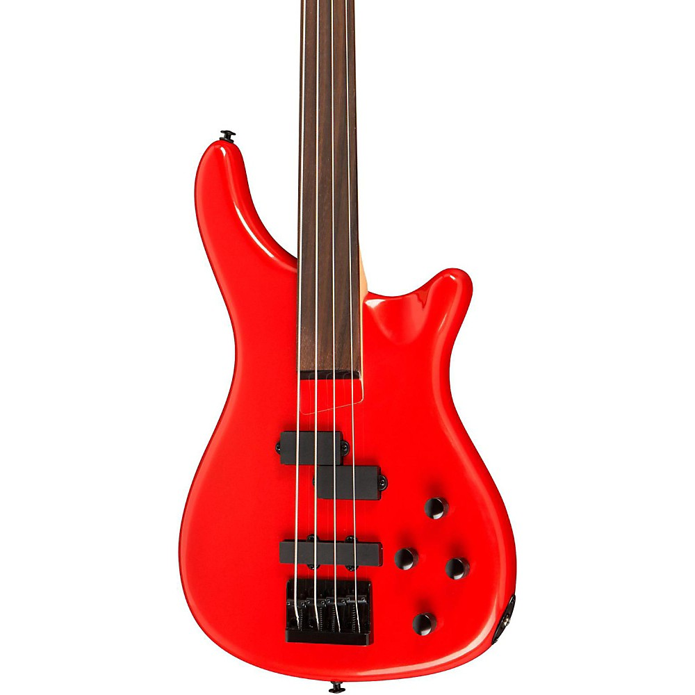 Rogue LX200BF Fretless Series III Electric Bass Guitar Candy Apple Red by Rogue