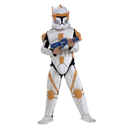 rubie's star wars clone wars child's clone trooper deluxe commander cody costume and mask, medium](Clonetrooper Costume)