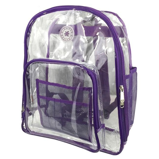 Harvest LM213 Purple Deluxe 17 inch See-through Clear 0. 5 mm.  PVC Backpack