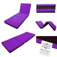 Magshion 4 Inch Memory Foam Tri-fold Mattresses Floor Bed Single Size (27''W) Dark Grey