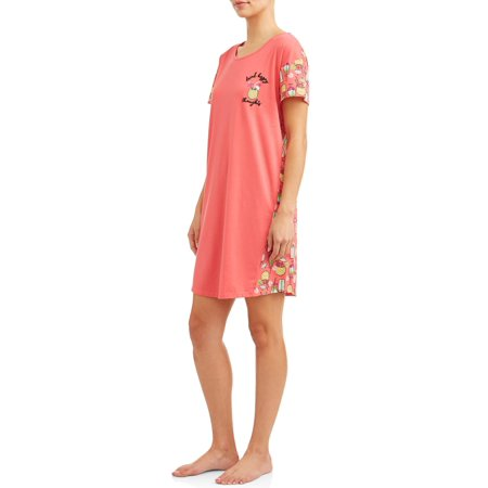 SECRET TREASURES WOMEN'S AND WOMEN'S PLUS ST SLEEPSHIRT DRINKS
