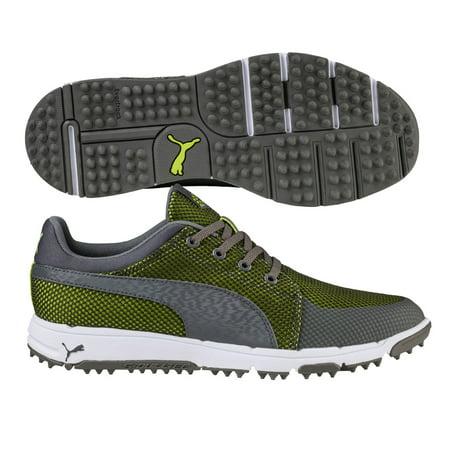 PUMA GRIP SPORT TECH GOLF SHOES MENS MEDIUM -19058801 QUIET SHADE/LIME- NEW (Tech Golf Shoe)