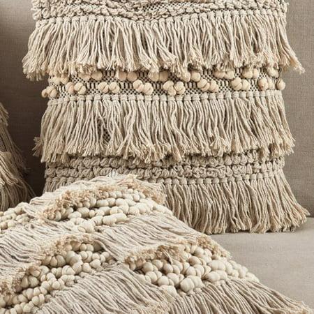 Mistana Hartwell Moroccan Wedding Blanket Square Fringe Cotton Throw Pillow