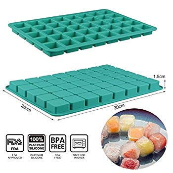 Ganache Square Silicone Candy Molds Mini Silicone Molds for Hard Candy Chocolate Gummy Caramel 2 Ice Cubes