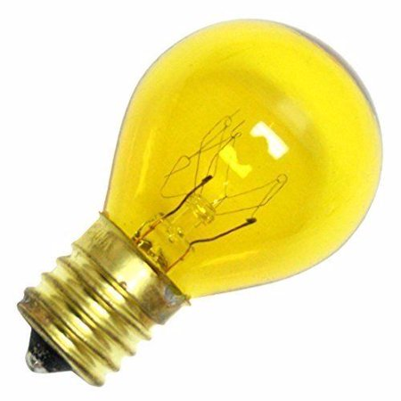 Norman Lamps 10S11N-130V-TY - 130V, 10W, S11 Miniature Light Bulb, Transparent Yellow (Pack of 10) (130v Miniature)