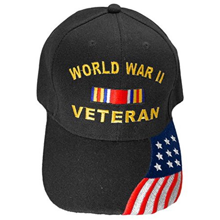 Buy Caps and Hats World War II Veteran Baseball Cap Mens Black Adjustable Vet Hat - Buy Phrygian Cap