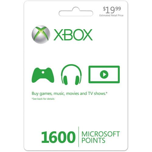 Xbox Live 1600 Points Card (Xbox 360)