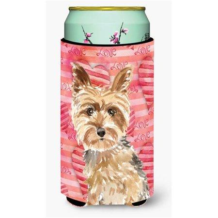 Carolines Treasures CK1743TBC Love a Yorkie Yorkshire Terrier Tall Boy Beverage Insulator Hugger - image 1 de 1