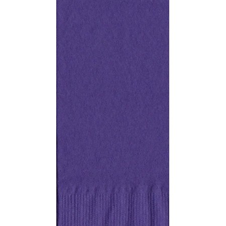 50 Plain Solid Colors Dinner Hand Towel Napkins Paper - Purple