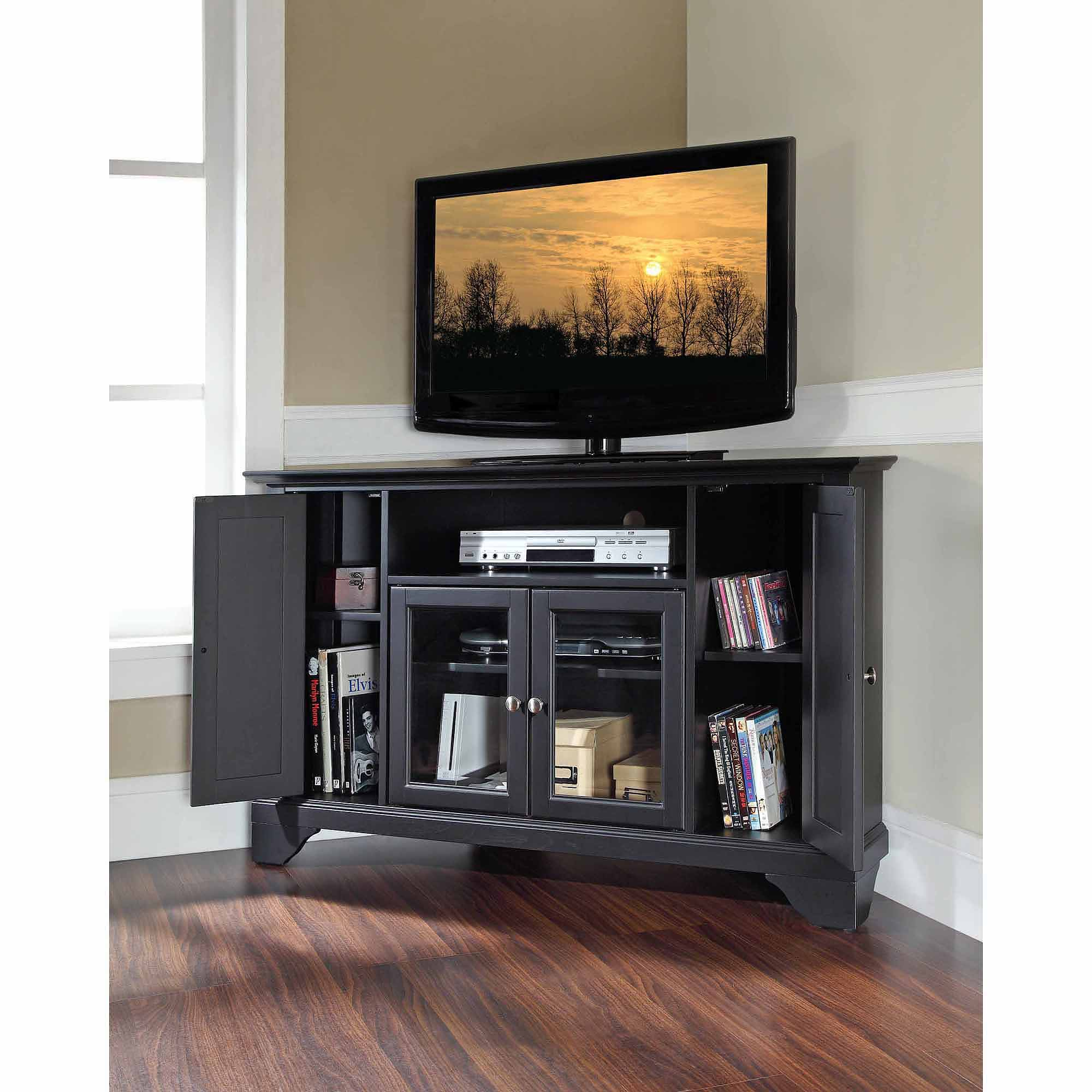 """Crosley Furniture LaFayette Corner TV Stand for TVs up to 48"""""""