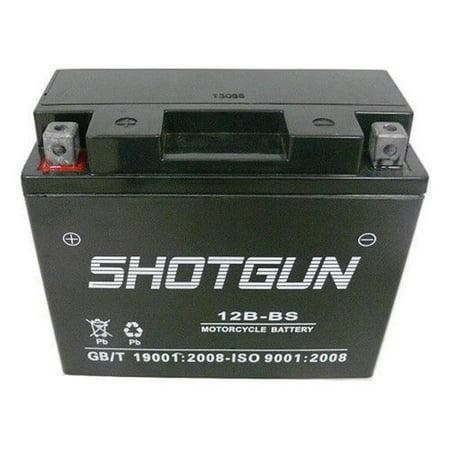 Shotgun 12B-BS-Shotgun4 12V YT12B-BS Battery for 04 05 06 07 08 09 10 Kawasaki ZX1000-C Ninja