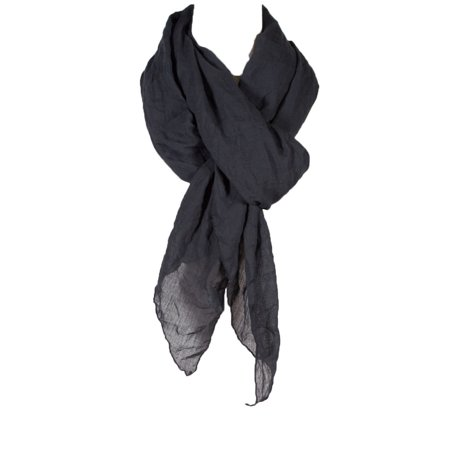 Black Linen Wrap (Women's Laies Fshion Long Cotton Wrinkle Linen Scarf Neck Scarves Shawl Wrap)