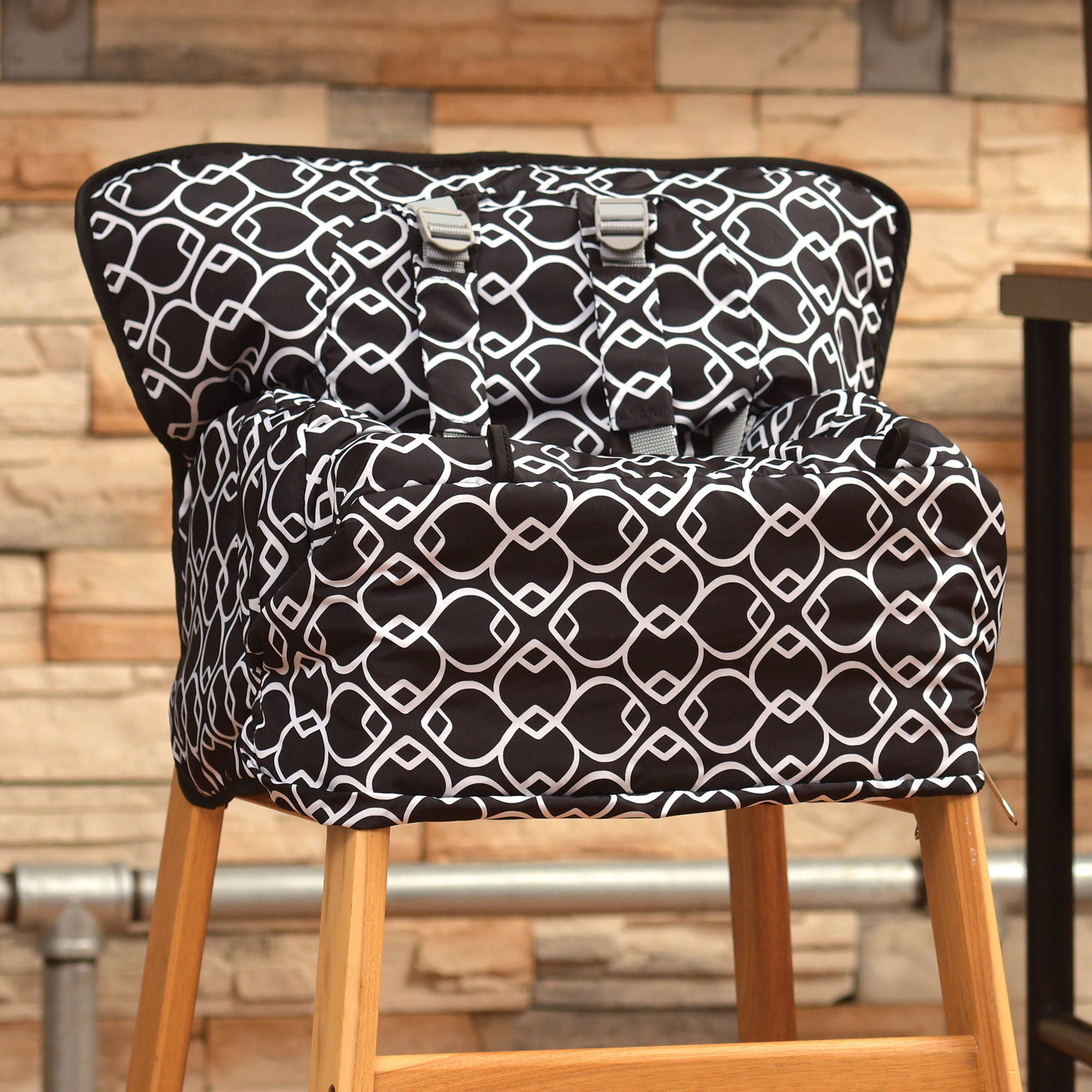 the Goldbug 2 in 1 Shopping Cart and High Chair Cover Black