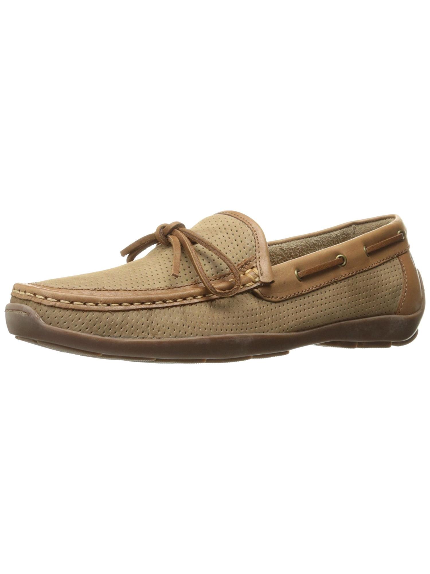 Tommy Bahama Men's Odinn Slip-on Moccasin Boat Shoe (Sand, 10.5) by