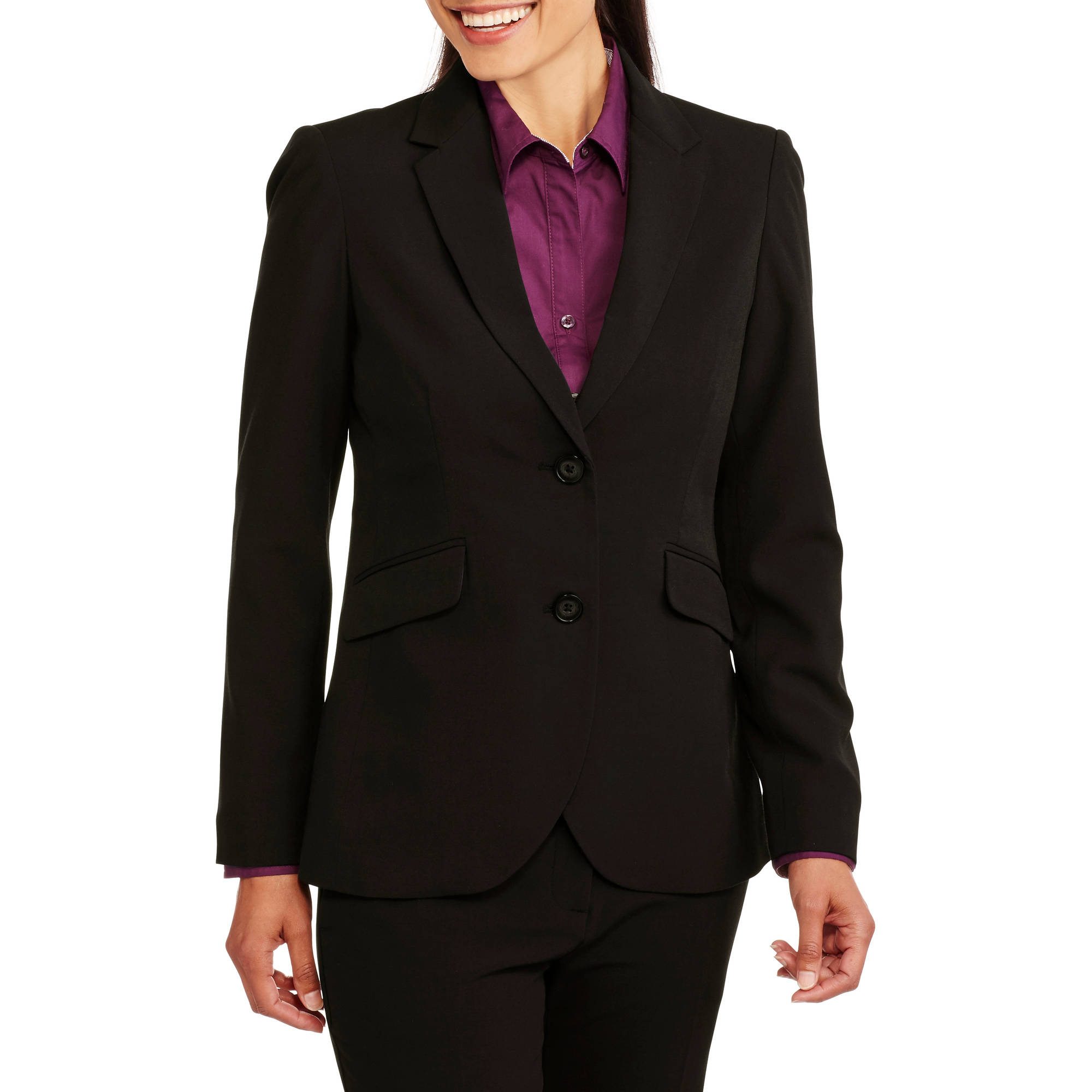 George Women S Career Suit Jacket New Updated Fit Walmart Com