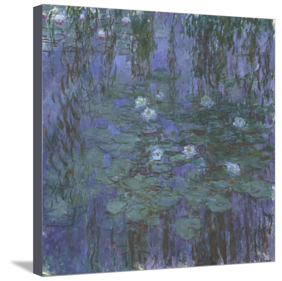Blue Water Lilies, 1916-1919 Stretched Canvas Print Wall Art By Claude Monet