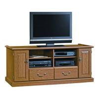 scribed oak effect home credenza product image sauder orchard hills entertainment credenza for tvs up to 55 oak tv stands walmartcom
