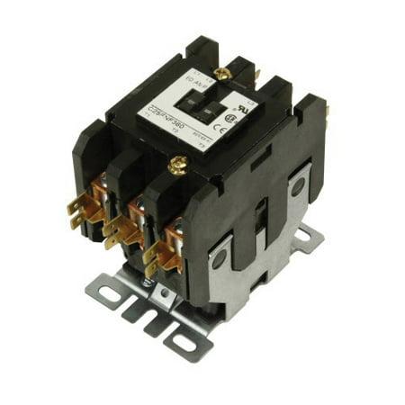Cutler-Hammer C25 Non-Reversing Definite Purpose Contactor, 110/120 VAC Coil, 60 A, 3PST, 3 Pole, 20 hp