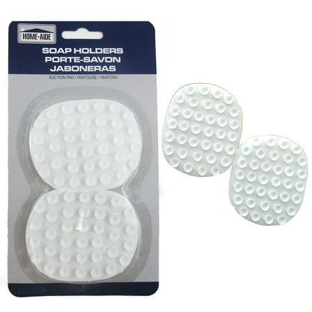 2 Pc Soap Saver Holder Suction Pads Soap Dish Bathtub Laundry Kitchen Tools (Porcelain Soap Holder)