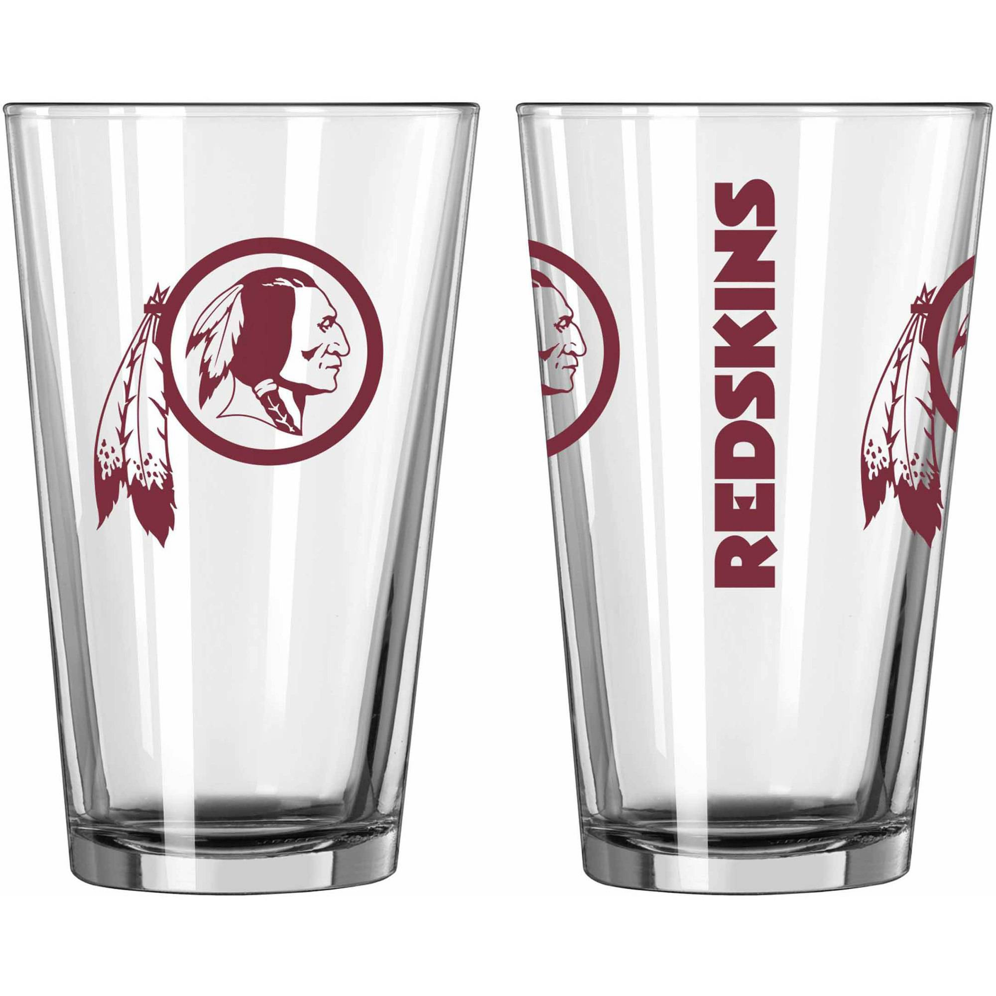 Boelter Brands NFL Set of Two 16 Ounce Game Day Pint Set, Washington Redskins